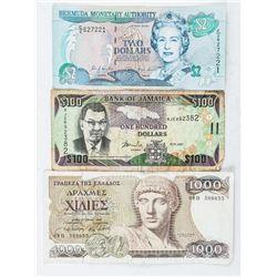 Estate Group (3) Notes: Bermuda, Jamaica,  Greece
