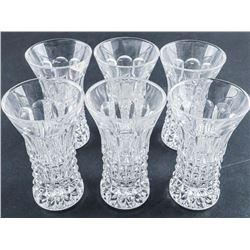 Group of (6) Bud Vase Crystal