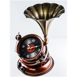 Phonograph Table Clock