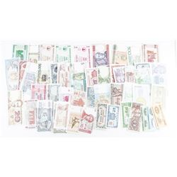 Estate World Lot of Paper Money - All  Original, All Uncirculated.
