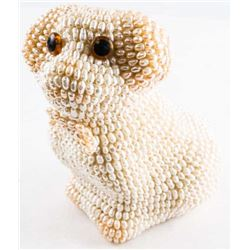 Handmade Dog Sculpture with Pearls