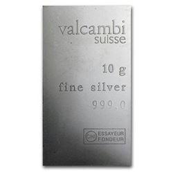 Suisse 10gr .999 Fine Silver Bar.