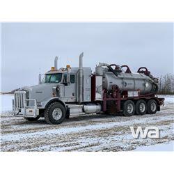 2012 KENWORTH T800 TRI-DRIVE COMBO VAC TRUCK