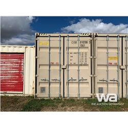 2012 8 X 9.6 FT. SHIPPING CONTAINER