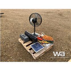 FAN, ELECTRICAL CORDS, SOLAR PANEL