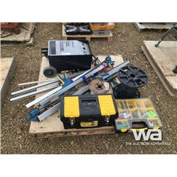 (2) ROLLS 14/2 WIRING, 12V BATTERY CHARGER, TOOLS