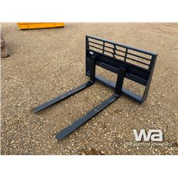 (UNUSED) 1 SET OF SKID STEER 48  PALLET FORKS