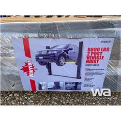 (UNUSED) WARRIOR 2 POST 8,800 LBS CAR HOIST