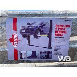 (UNUSED) WARRIOR 2 POST 8,800 LBS CAR HOIST