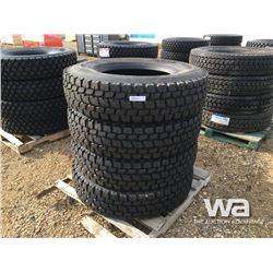 (UNUSED) (4) GRIZZLY 11R22.5 TRUCK DRIVE TIRES