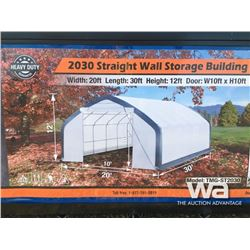 (UNUSED) STRAIGHT WALL 20 X 30 X 12 FT. SHELTER