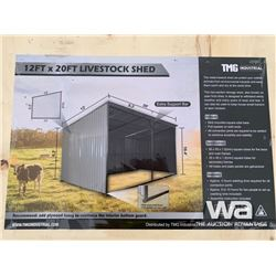 (UNUSED) SKID MOUNTED 12 X 20 FT. LIVESTOCK SHED