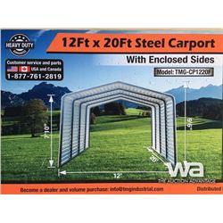 (UNUSED) 12 X 20 FT. ALL-STEEL CARPORT