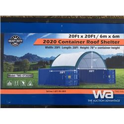 (UNUSED) 20 X 20 FT. ROUND CONTAINER ROOF SHELTER
