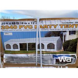 (UNUSED) 20 X 40 FT. ENCLOSED PVC PARTY TENT
