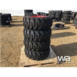 (4) GRIZZLY SKID STEER 12-16.5 TIRES & RIMS