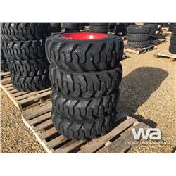 (4) GRIZZLY SKID STEER 10-16.5 TIRES & RIMS