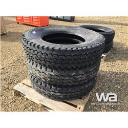 (3) GRIZZLY 11R24.5 TRUCK STEERING TIRES
