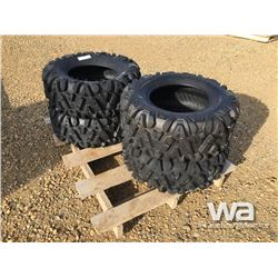 (UNUSED) (4) MASSFX 25X10-12 TIRES