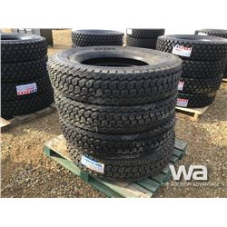(UNUSED) (4) GRIZZLY 11R24.5 TIRES