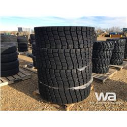 (UNUSED) (4) GRIZZLY 445/80R25 TIRES