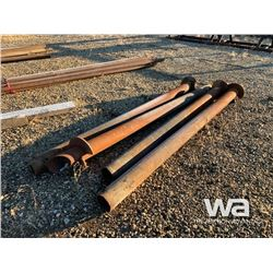 """(4) 6"""" X 10 FT. HELICAL SCREW PILES"""