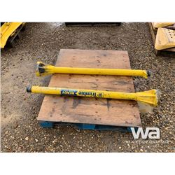 (2) TRIMBLE DOZER BLADE GPS MASTS