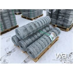 (4) ROLLS OF 4 X 330 FT. GALVANIZED FIELD FENCE