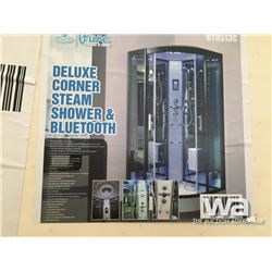 DELUXE CORNER STEAM SHOWER & BLUETOOTH