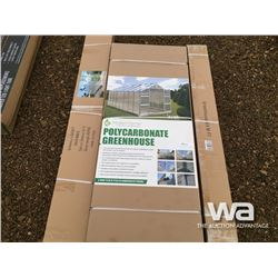 8 X 16 FT. POLYCARBONATE GREENHOUSE