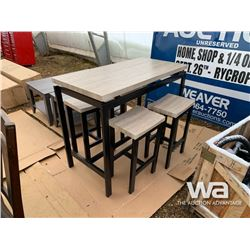 5 PIECE COUNTER HEIGHT KITCHEN TABLE SET