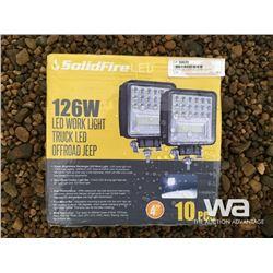 10 PCE 126 WATT LED WORK LIGHTS