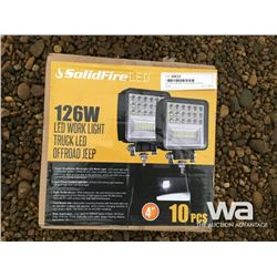 10 PCE 126 WATT LED WORK LIGHTS