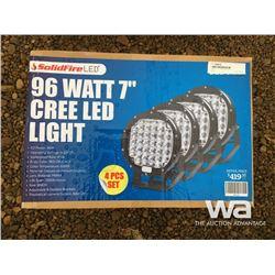 """(4) 96 WATT 7"""" CREE LED LIGHT"""