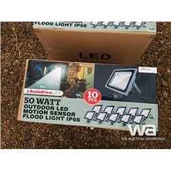 (10) PCES 50 WATT OUTDOOR LED MOTION LIGHT