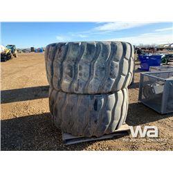 (2) BRIDGESTONE 750/65R25 ROCK TRUCK TIRES