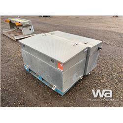 (2) 200L ALUMINUM FUEL TANK/TOOL BOX COMBO