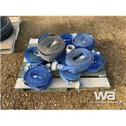 """PALLET OF 2"""" & 3""""  LAY FLAT WATER HOSE"""
