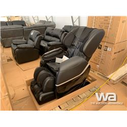 BLACK FULL BODY SHIATSU MASSAGE CHAIR
