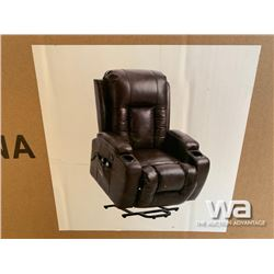 BLACK POWER LIFT RECLINER & MASSAGE CHAIR