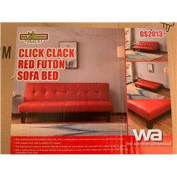 CLICK CLACK RED FUTON SOFA BED