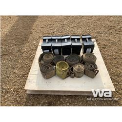 (5) BOXES OF WELD ON ICE LUGS & STRAPS