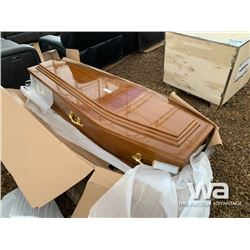 LIGHT BROWN CASKET