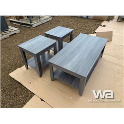 DISTRESSED GREY COFFEE TABLE SET