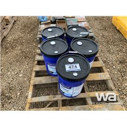 (5) 20L PAILS OF VOLVO ATF FLUID