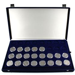 *Full Run of 1968-1986 Canada Nickel Dollars Encapsulated in Large Blue Display Case with 2 Trays. 2