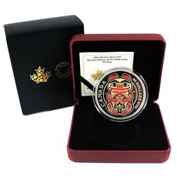 2016 Canada $50 Mythical Realms of the Haida - The Bear 5oz Fine Silver Coin (Capsule is lightly scr