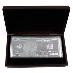 2015 USA $100 1oz .999 Fine Silver Banknote Encapsulated in Display Box with COA (Capsule is scratch