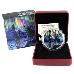 2016 Canada $30 Northern Lights In The Moonlight Glow in the Dark Fine Silver Coin. (TAX Exempt)