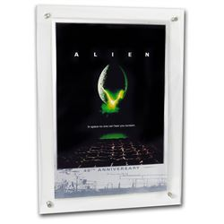 2019 Tuvalu Alien 40th Anniversary Large Alien Movie Poster in Silver Foil Weighing 35 Grams with Ha